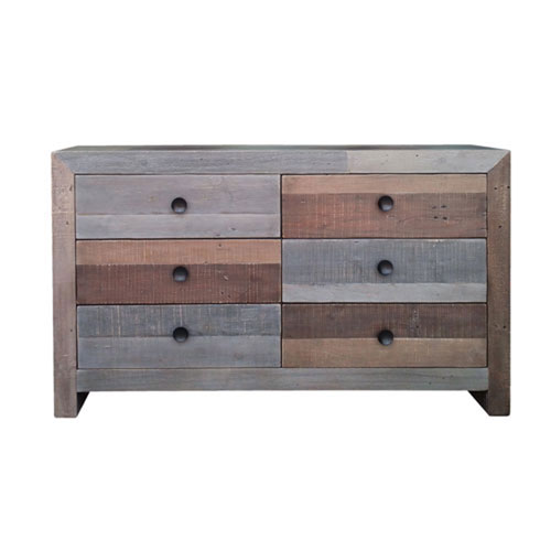 251 First Afton Multicolor Six Drawer Dresser