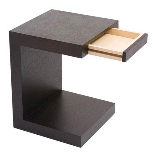 251 First Nicollet Black Oak Side Table