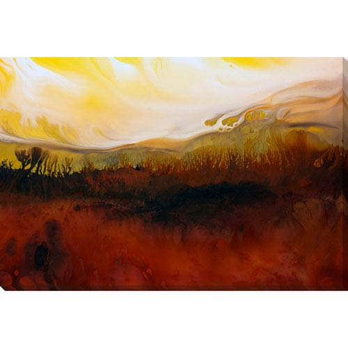 251 First Aster Country Side 28 x 19 In. Wall Art