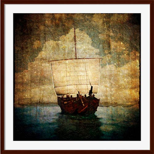 251 First Aster Sail the Sea 40 x 25 In. Wall Art