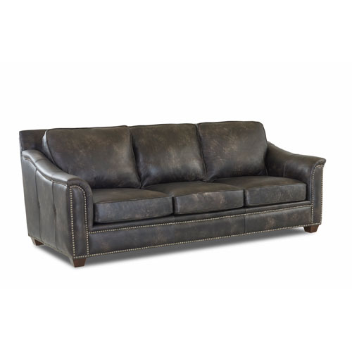 251 First Fulton Stormcloud Leather Sofa