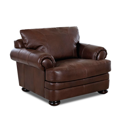 251 First Wellington Walnut Leather Chair