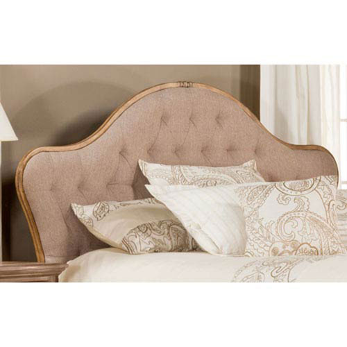 Evelyn Antique Neutral Queen Headboard with Rails
