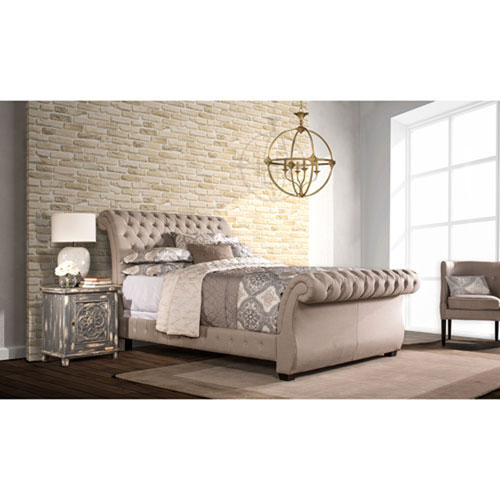 251 First Evelyn Linen Stone King Bed