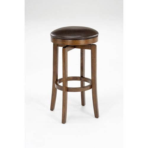 251 First Wellington Brown Cherry Wood Backless Swivel Barstool