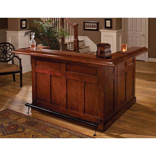 251 First Wellington Classic Cherry Large Bar with Side Bar