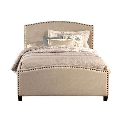 Whittier Light Taupe Full Complete Bed With Rails