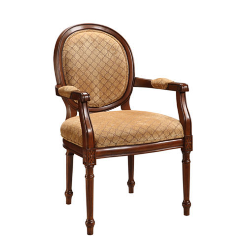 251 First Evelyn Cherry Accent Chair