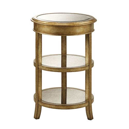 251 First Evelyn Metallic Gold Accent Table