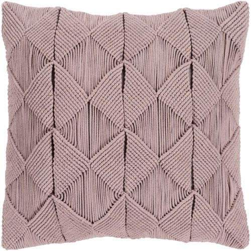 Quinn Taupe 18 In. Throw Pillow with Poly Fill