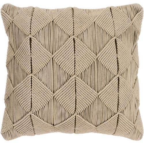 Quinn Sage 18 In. Throw Pillow with Poly Fill