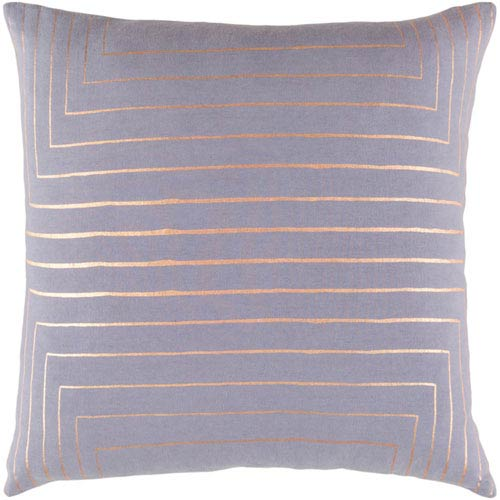 251 First Monroe Gray and Gold 20 In. Throw Pillow