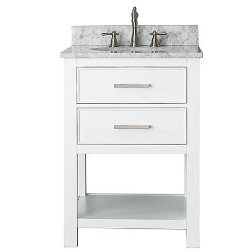 251 First Grace White 24 Inch Vanity Combo With Carrera Marble Top