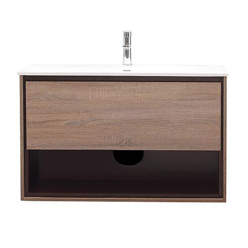 Uptown Restored Khaki Wood 39-Inch Vanity Combo