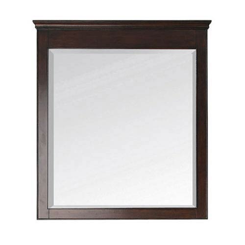 251 First Wellington Walnut 34 Inch x 38 Inch Mirror