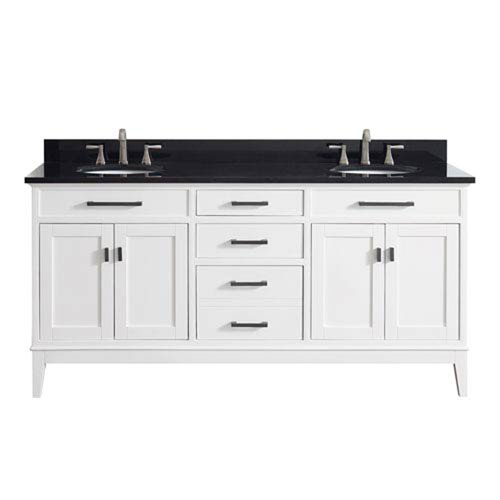 251 First Whittier White 73-Inch Double Sink Vanity Combo