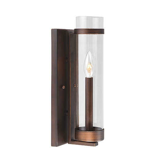 Whittier Rubbed Bronze One-Light Wall Sconce