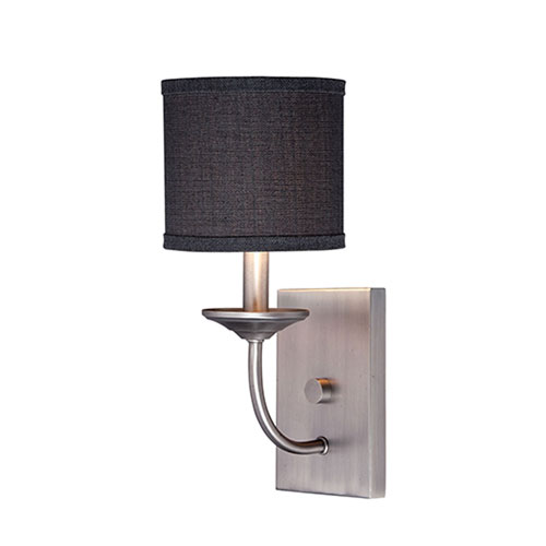 Evelyn Brushed Pewter One-Light Wall Sconce