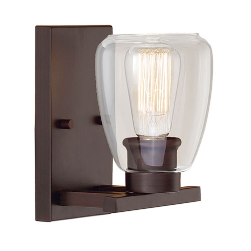 251 First Kenwood Rubbed Bronze One-Light Bath Sconce