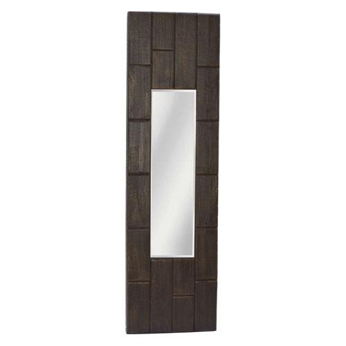 251 First Afton Brown Long Rectangular Wall Mirror