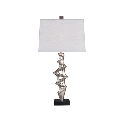 251 First Cooper Silver Table Lamp with White Shade