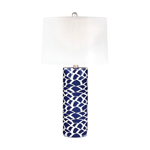 Selby Navy Blue and White One-Light Table Lamp