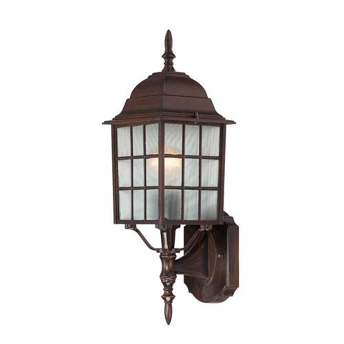 251 First Hayden Rustic Bronze 18-Inch One-Light Outdoor Wall Sconce with Frosted Glass