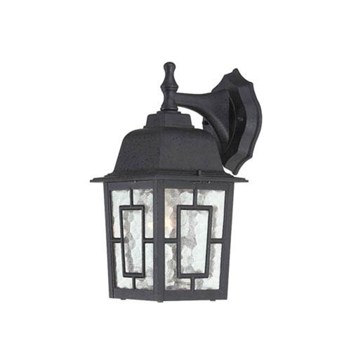 251 First Hayden Textured Black 12-Inch One-Light Outdoor Wall Sconce with Water Glass