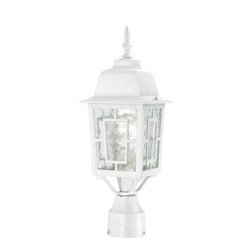 Grace White One-Light Outdoor Post Mount with Water Glass