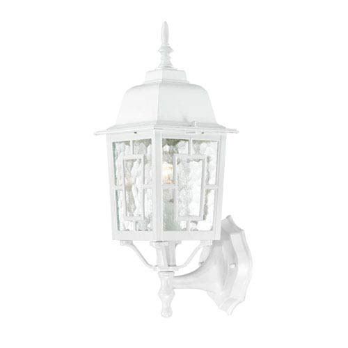 251 First Grace White 17-Inch One-Light Outdoor Wall Sconce with Water Glass