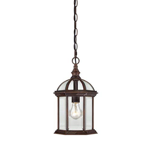 251 First Webster Rustic Bronze One-Light Outdoor Pendant