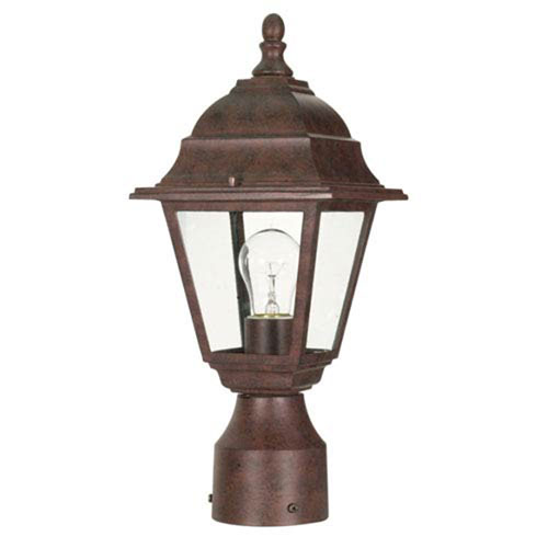 251 First Selby Old Bronze One-Light Outdoor Post Mount