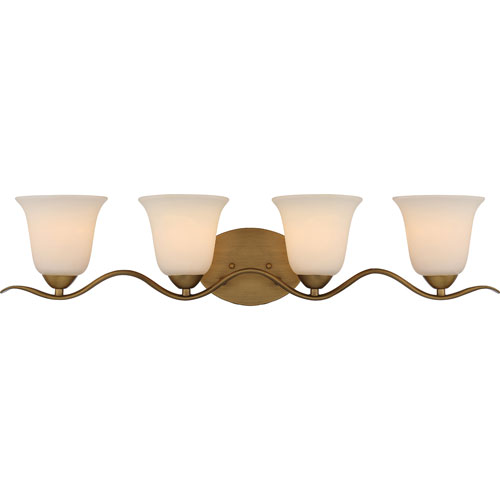 251 First Evelyn Natural Brass Four-Light Bath Vanity