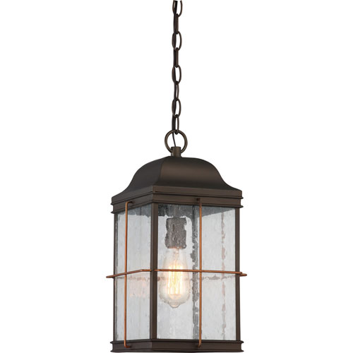 251 First Afton Bronze and Copper One-Light Outdoor Pendant