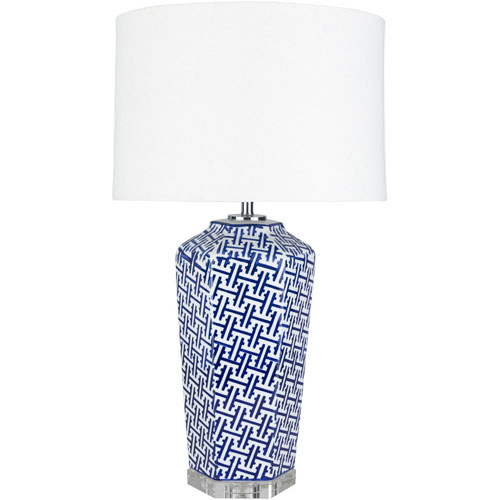 251 First Selby Blue and White One-Light Table Lamp