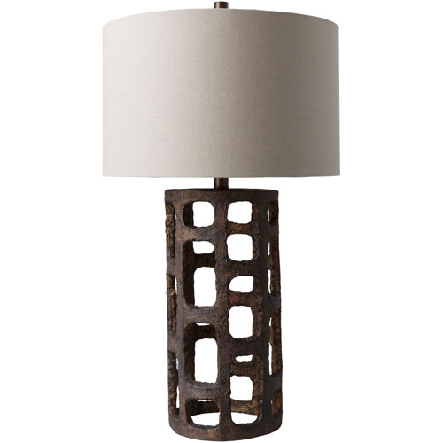251 First Uptown Bronze One-Light Table Lamp