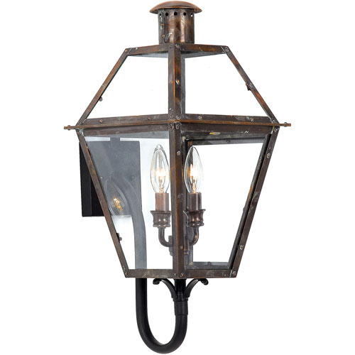 251 First Webster Aged Copper 24-Inch Two-Light Outdoor Wall Sconce