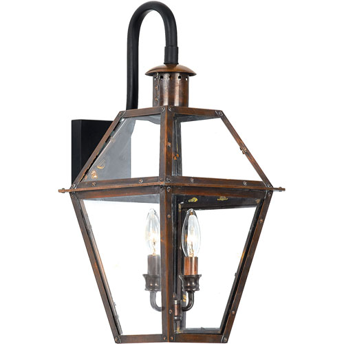 Webster Aged Copper 22-Inch Two-Light Outdoor Wall Sconce