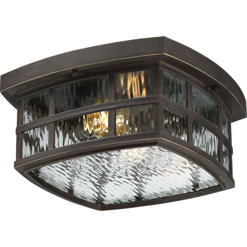 Hayden Bronze Two-Light Outdoor Flush Mount