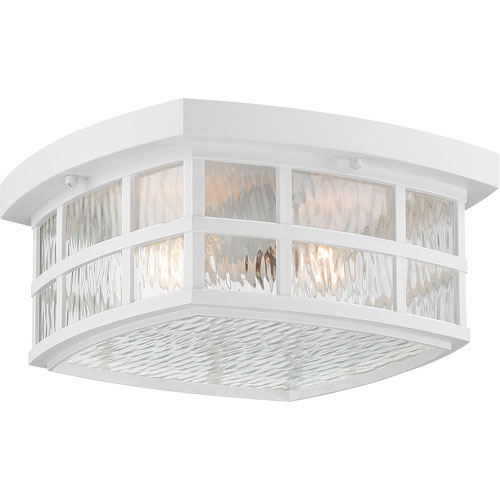 Grace White Two-Light Outdoor Flush Mount
