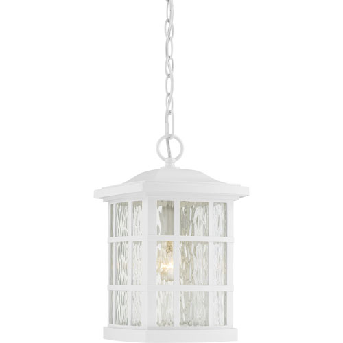 251 First Grace White One Light Outdoor Pendant