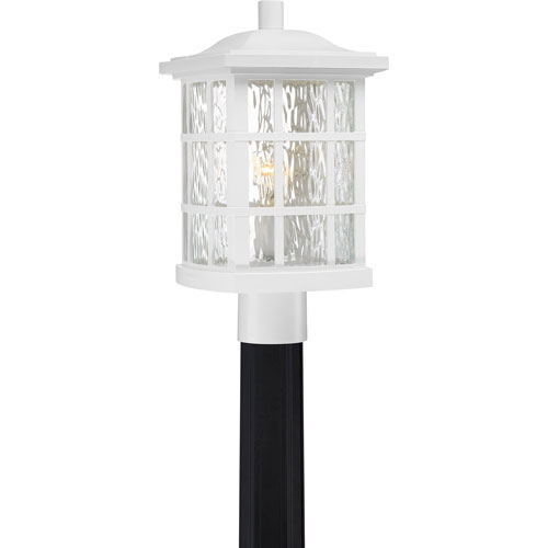 251 First Grace White One-Light Outdoor Post Mount