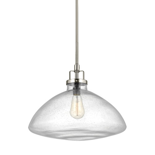 251 First Afton Brushed Nickel 16-Inch One-Light Pendant
