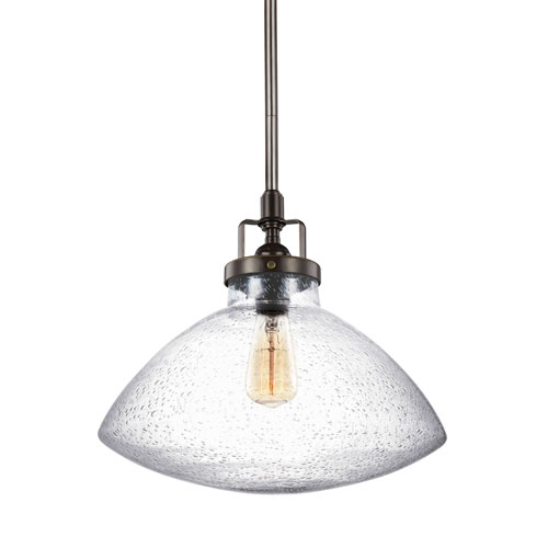 251 First Afton Bronze 13-Inch One-Light Pendant