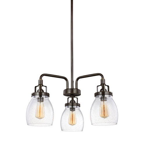 251 First Afton Bronze Three-Light Chandelier