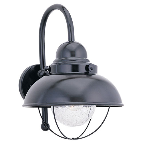 251 First River Station Black 11-Inch One-Light Outdoor Wall Sconce