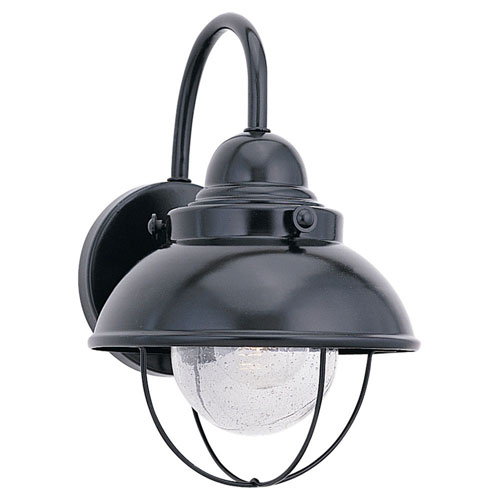 251 First River Station Black 16-Inch One-Light Outdoor Wall Sconce