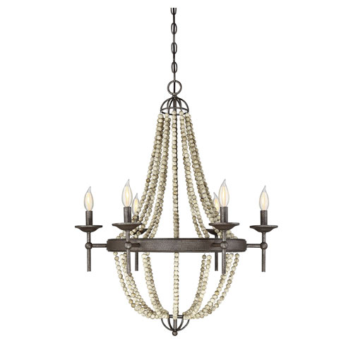 Grace Stone Six-Light Chandelier
