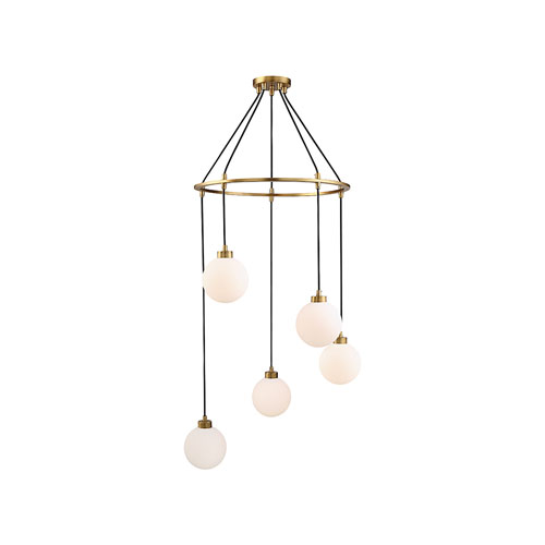 Nicollet Natural Brass Five-Light Pendant