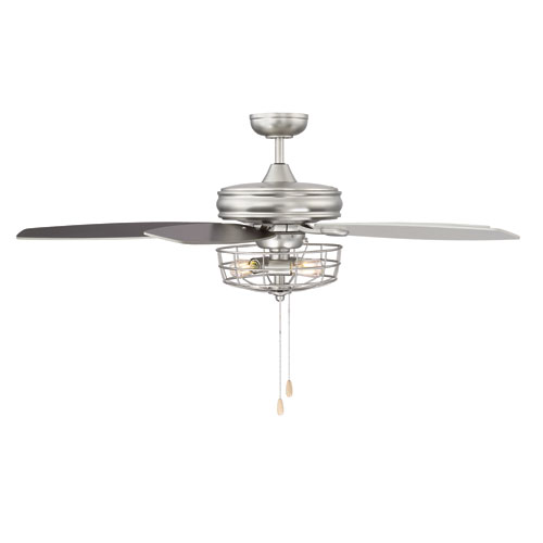 River Station Brushed Nickel LED Ceiling Fan